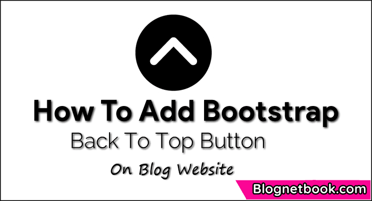 back to top button for blog website