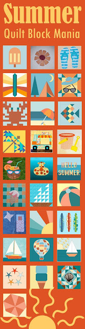 List of FREE Summer Fun quilt block patterns