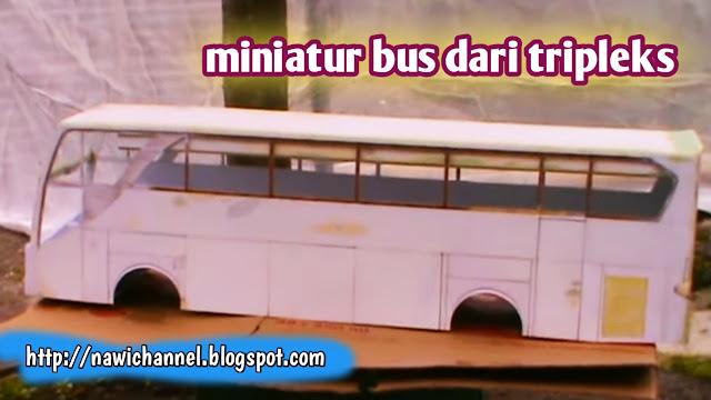 Cara Membuat Miniatur Bus dengan Tripleks Bekas