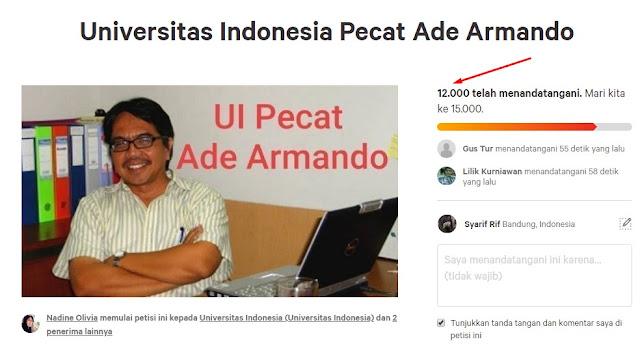 Petisi UI Universitas Indonesia pecat Ade Armando