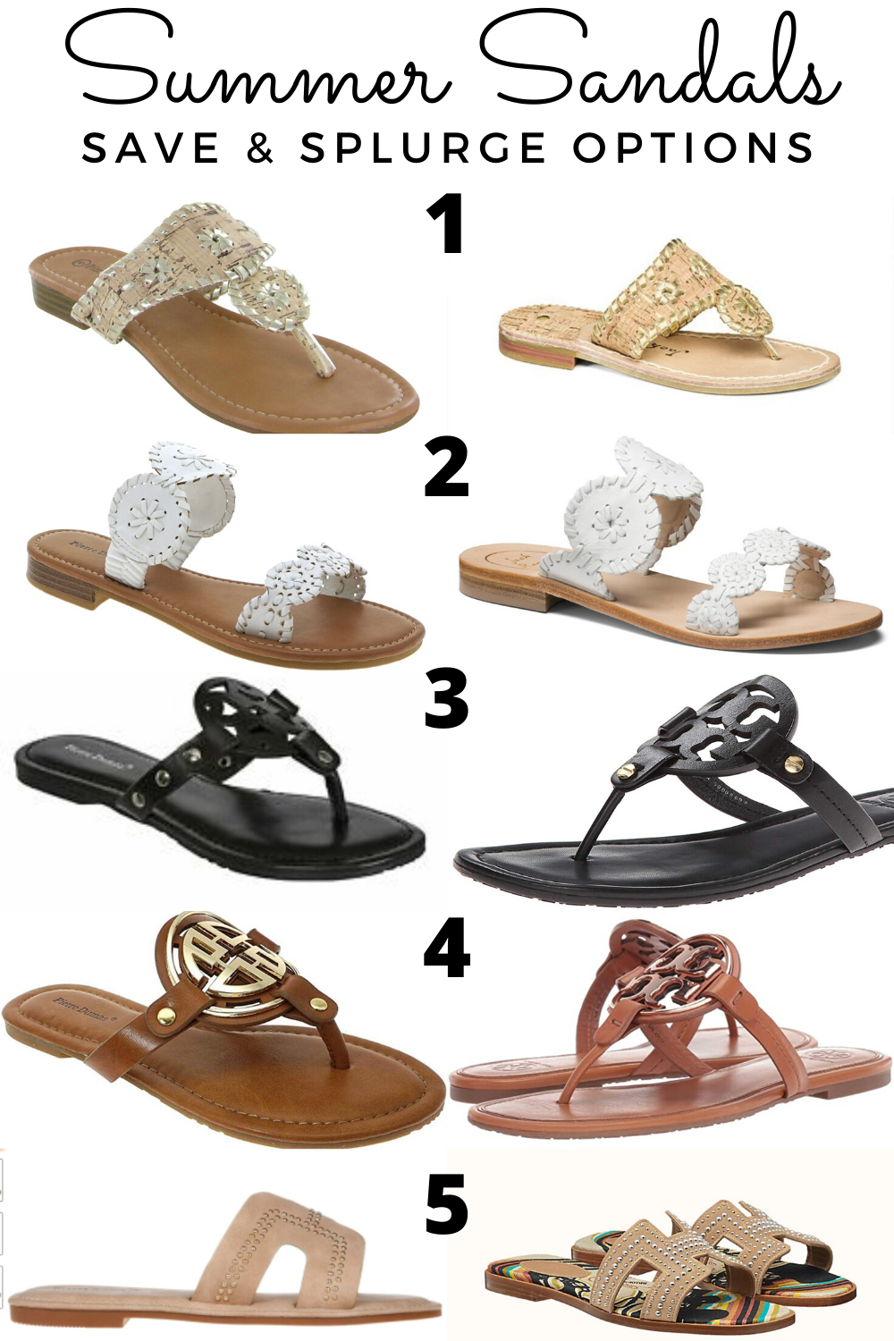 Summer Sandals: Save & Splurge