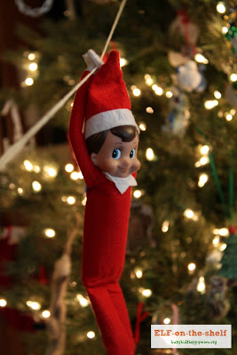 Ideas for Christmas Fun with your Elf-on-the-Shelf, Zip Line elf!