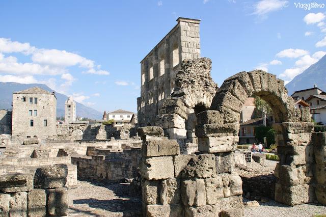 Vista panoramica sul Teatro Romano
