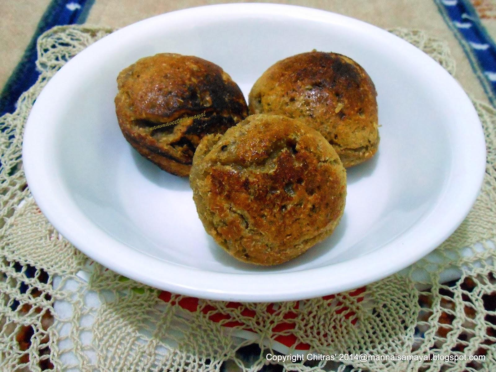 Thinai Sweet Paniyaram [ Foxtail millet sweet paniyaram ]