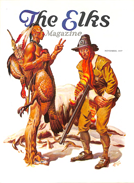 Cover Illustration for The Elks magazine, November 1937, by Alex Raymond