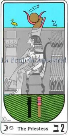 Tarot Egipcio, simbología de la Sacerdotisa