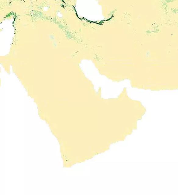 Peta Tutupan Hutan Asia Barat