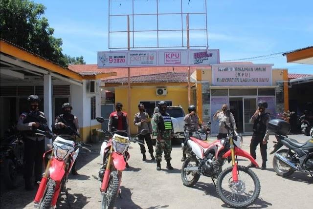 TNI/Polri  Labuhanbatu Patroli Pengamanan Sidang MK