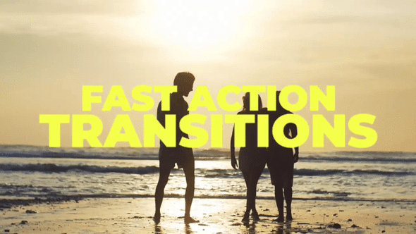 Fast Action Transitions - Premiere Pro Templates 78259