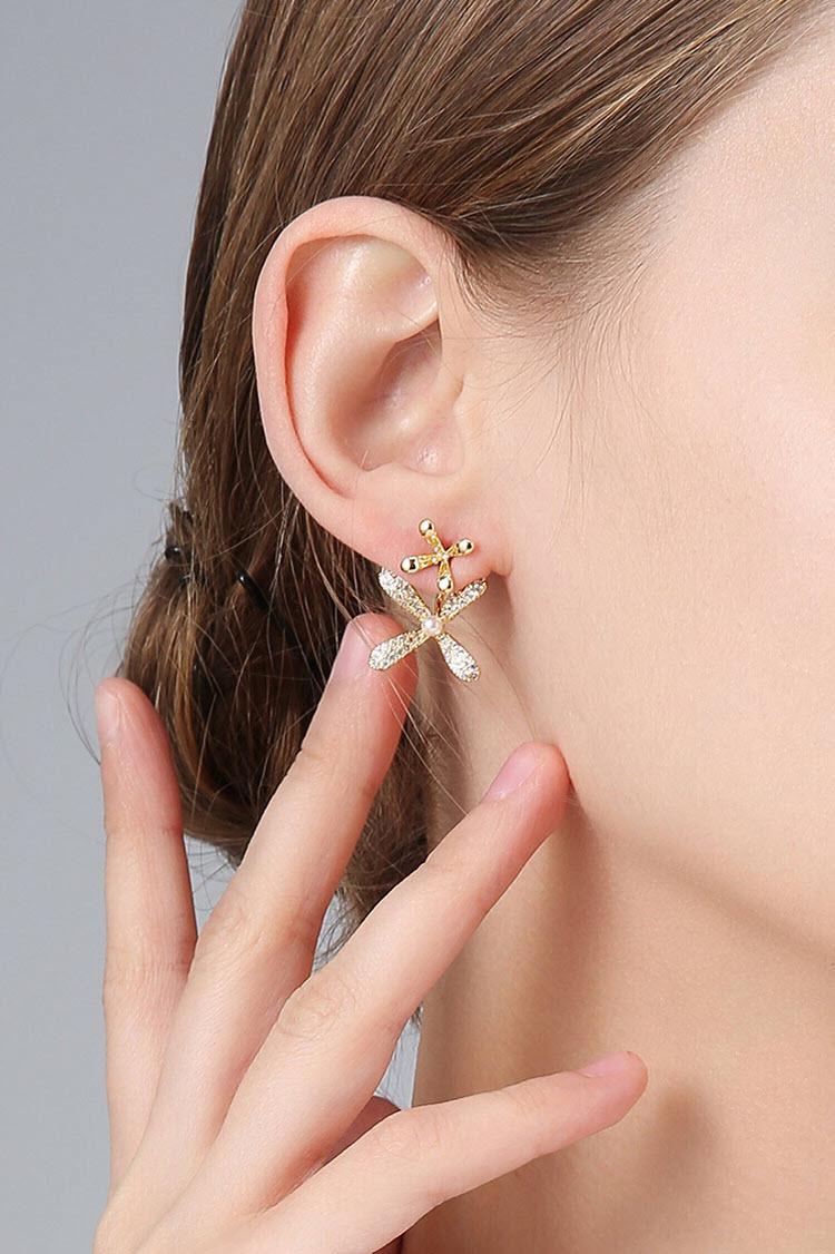 搖曳花兒鋯石耳環