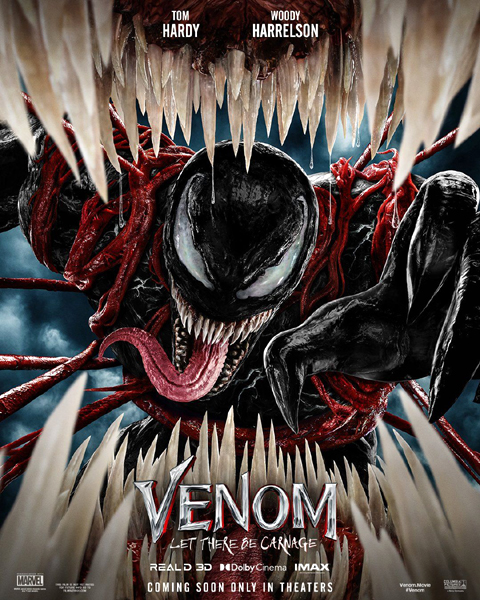 The theatrical poster for VENOM: LET THERE BE CARNAGE.