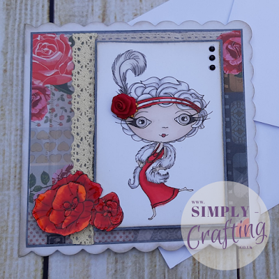 Verity Rose, Starlet Handmade Card