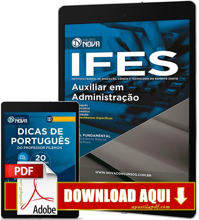 Apostila IFES 2016 PDF Download Auxiliar em Administração