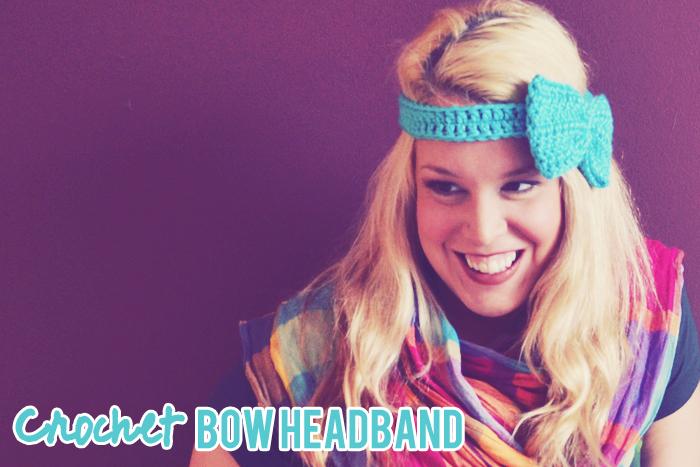 crochet bow headband pattern via peacoats and plaid