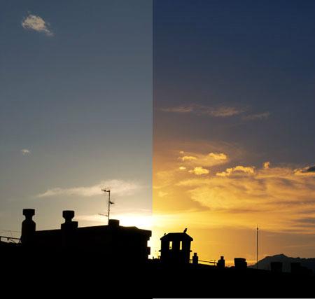 Усиление заката на фото в Фотошопе