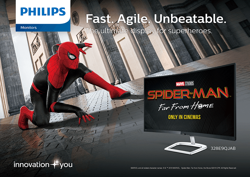 Philips and Sony Pictures Entertainment are giving premium Spider-man Far From Home items for every monitor purchase!