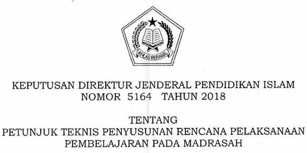 Juknis Penyusunan RPP Pada Madrasah