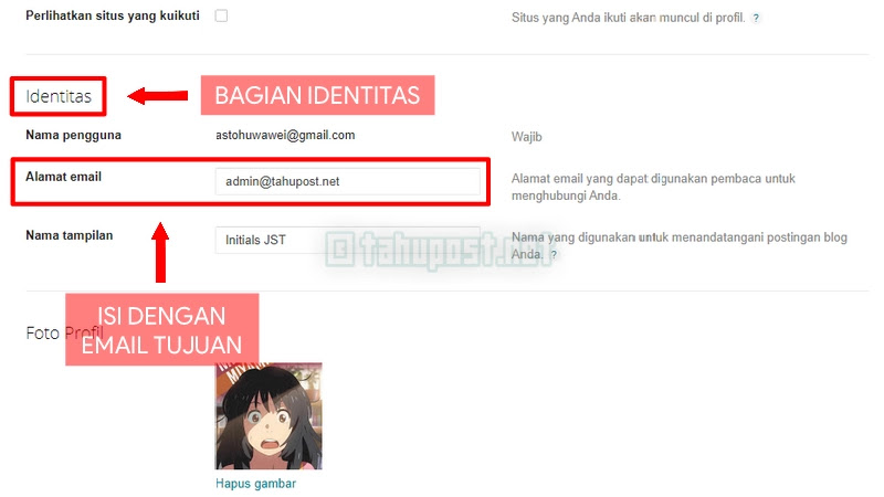 Formulir Kontak Blogger
