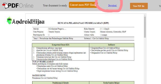cara mudah convert file pdf ke word online