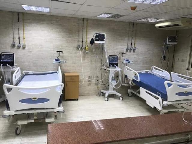 زيادة عدد أسرة العنايه المركزة وأسرة الداخلي المخصصة لمصابي كورونا بمستشفى سوهاج العام