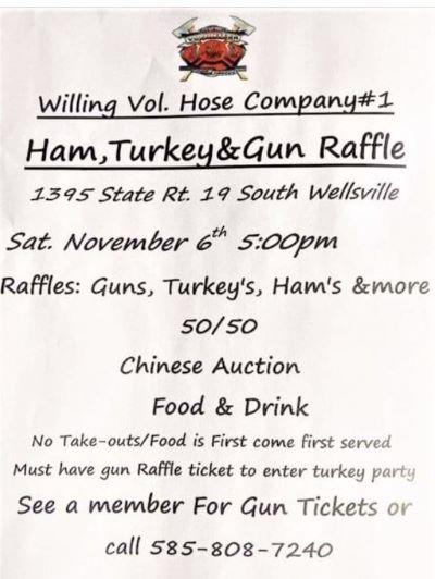 11-6 Ham, Turkey & Gun Raffle, Willing Vol. Hose Co.