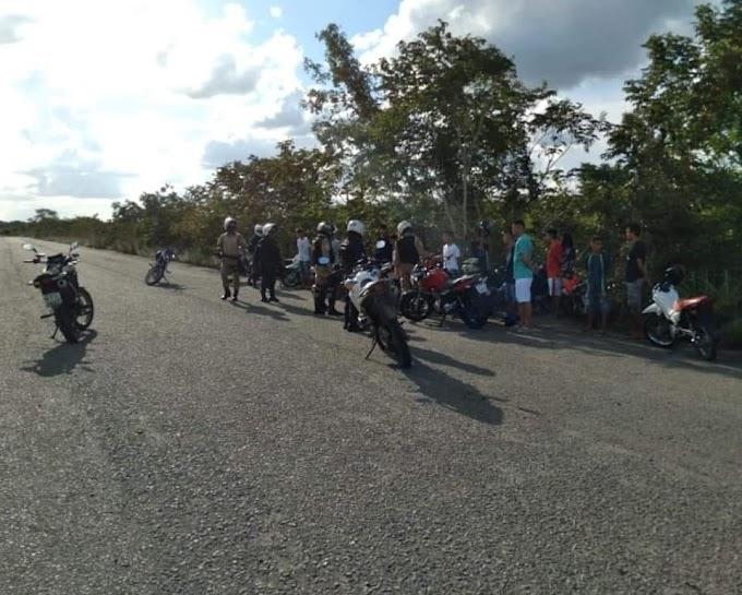 Em ação conjunta, Guarda Municipal e Agentes de Trânsito interrompem encontro de motociclistas que faziam rachas em Chapadinha-MA