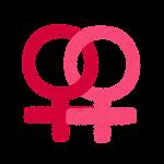 性別記号のイラスト(女性同性愛)
