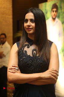 Actress Rakul Preet Singh Stills in Beautiful Blue Long Dress at Dhruva Salute to Audience Event  0002.JPG