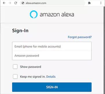 تسجيل الدخول حساب اليكسا