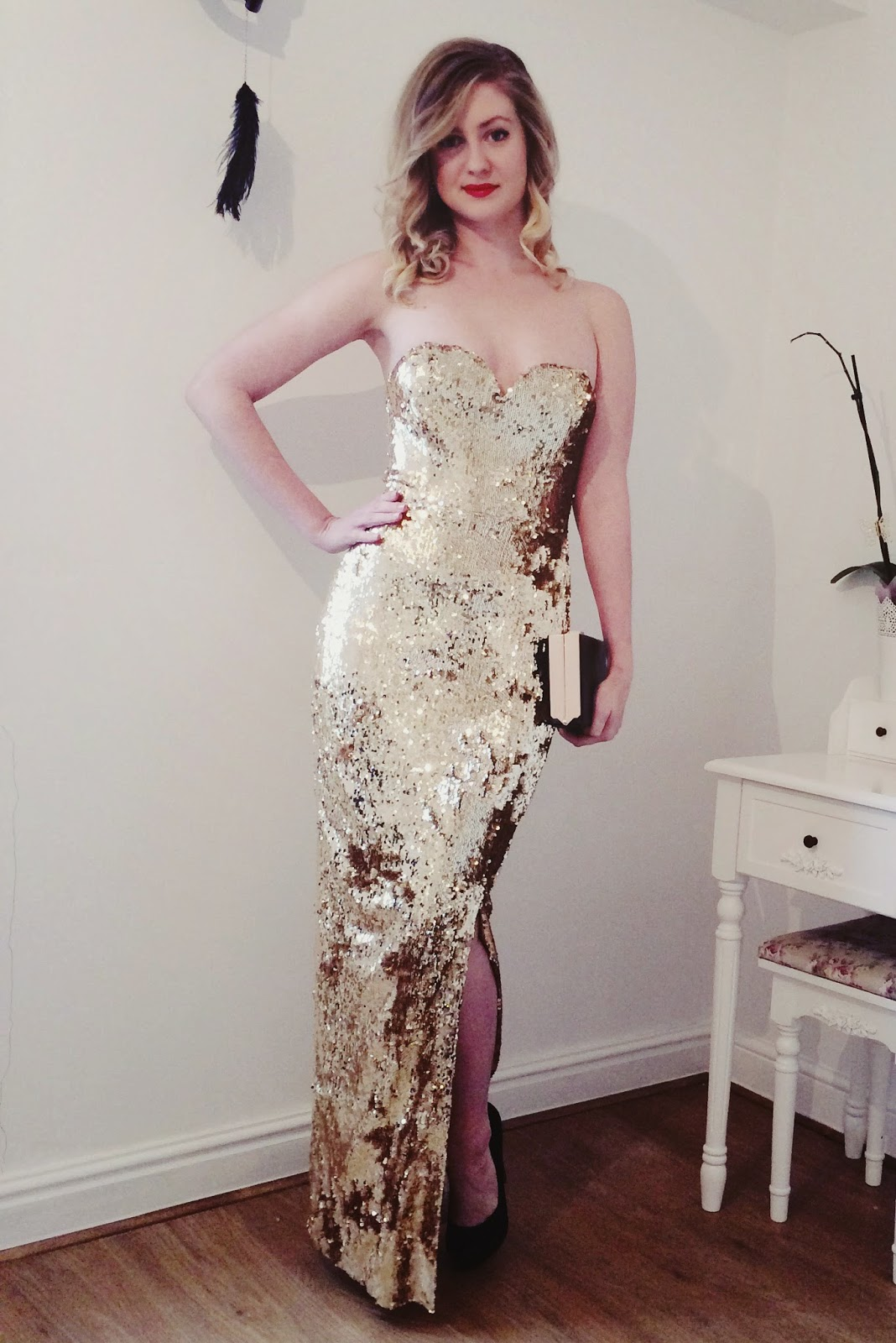 FashionFake, fashion bloggers, UK fashion blog, Jane Norman sequin maxi, evening dresses, Christmas party wear