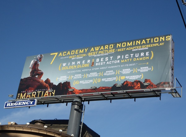 The Martian Oscar nominee billboard