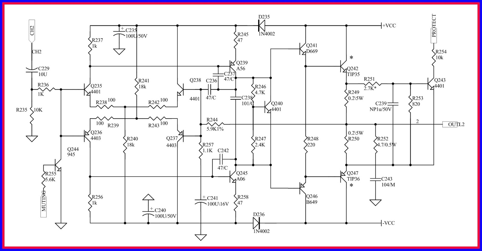 small resolution of circuit diagram power supply power amplifier only one channel shown