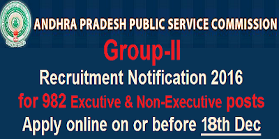 APPSC Group-II Recruitment Notification 2016