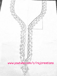 in this video step by step instructions for embroidery of neckline