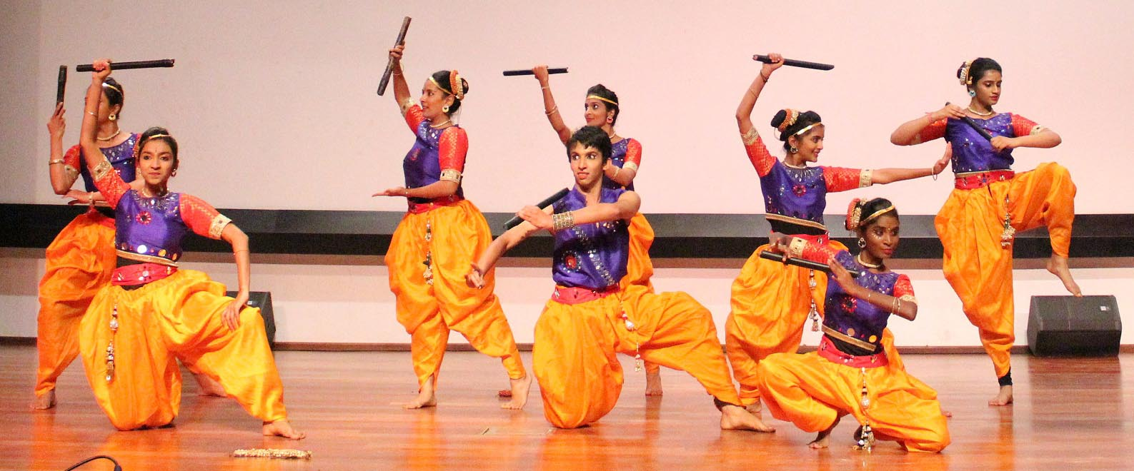 Students perform on stage during Swayam 2018 event at MVJ College of Engineering