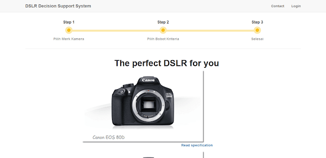 Hasil SPK Pemilihan Kamera DSLR