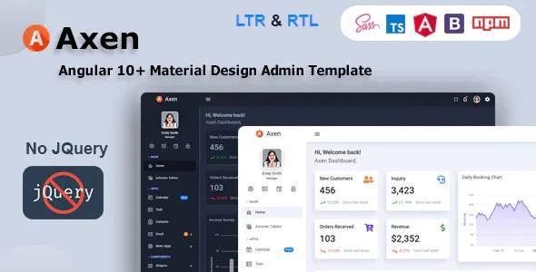 Best Angular 10+ Material Design Admin Dashboard Template