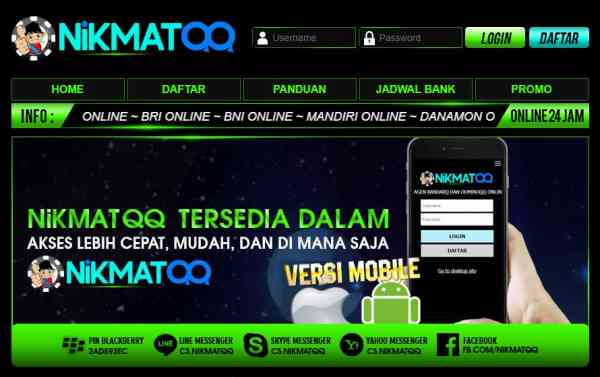 NikmatQQ Agen Poker Domino99 Online