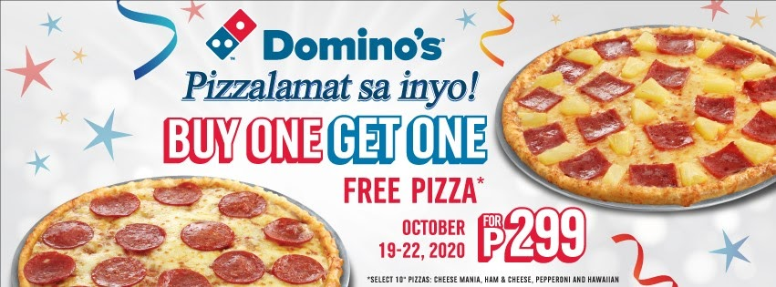 Manila Shopper Domino S Buy1 Get1 Pizza Promo Oct 2020