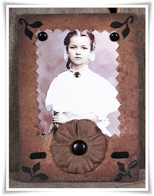 Young Miss Altered Art