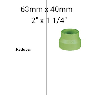 Jual reducer pipa ppr lesso 63mm x 40mm