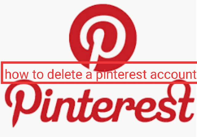 how to delete a pinterest account