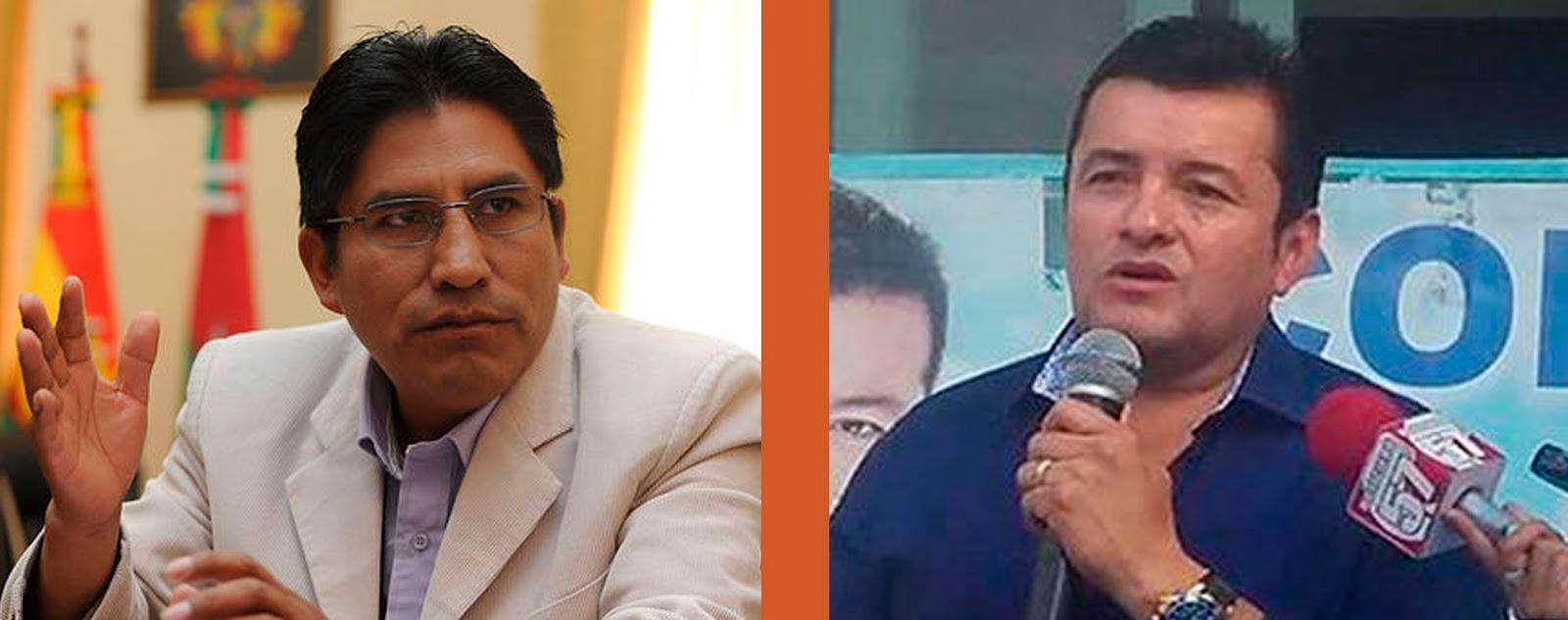 Patzi y Fernández, jefes de dos partidos que quedaron sin personería jurídica este domingo / WEB / MONTAJE