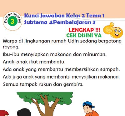 Kunci Jawaban Kelas 2 Tema 1 Subtema 4 Pembelajaran 3 www.simplenews.me