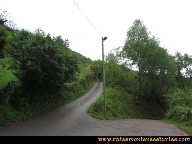 Ruta Ablaña Llosorio: Inicio de la ruta en el aparcamiento del cementerio