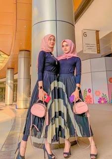 Rok plisket maxi untuk fashion lover dengan tubuh jangkung