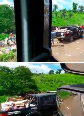 Comando do 5º BPM desmente informação divulgada na internet dando conta que policiais participaram de saque a caminhão, em Barra do Corda