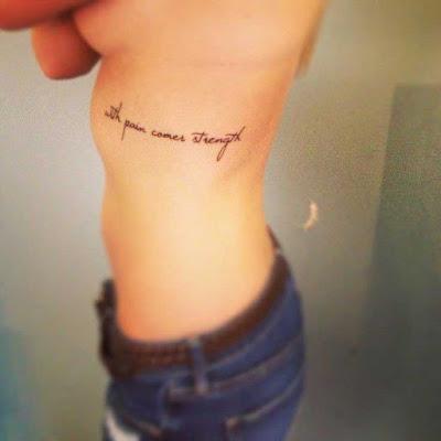 Quotes Rib Tattoos