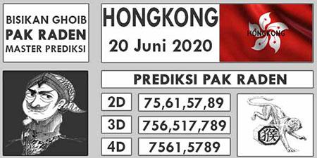 Prediksi Togel Hongkong Pak Raden Sabtu 20 Juni 2020