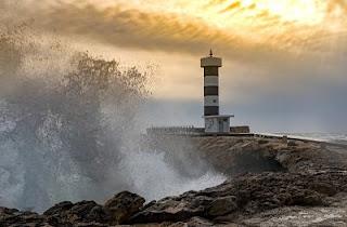 mallorca, colonia sant jordi, lighthouse, waters, coast, sea, evening sun, nature, holiday, travel,